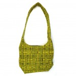 ebmroidered hobo bag yellow back