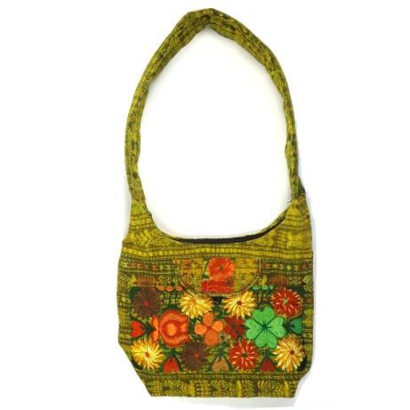 ebroidered hobo bag yellow