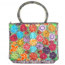 embroidered carry-all lavender