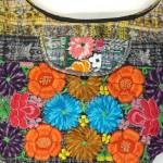 embroidered hob bag gold detail