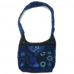 embroidered hobo bag blue
