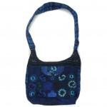 embroidered hobo bag blue