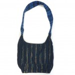 embroidered hobo bag blue back