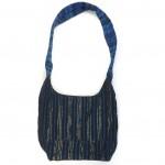embroidered hobo bag blue back