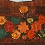 embroidered hobo bag brown-multi detail