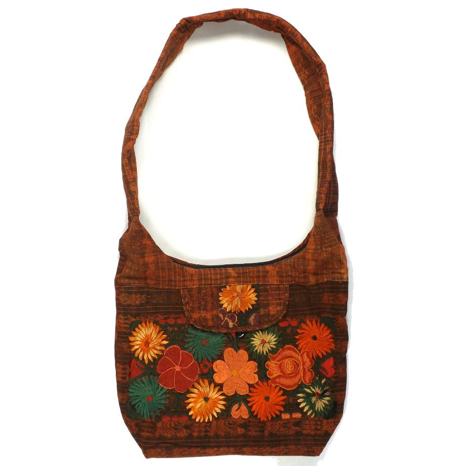 embroidered hobo bag three martlets