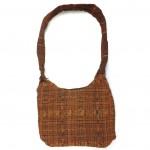 embroidered hobo bag brown-red back