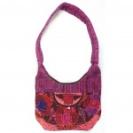 embroidered hobo bag fuscia
