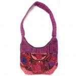 embroidered hobo bag fuscia