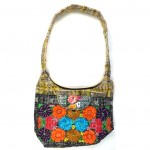embroidered hobo bag gold