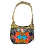 embroidered hobo bag gold