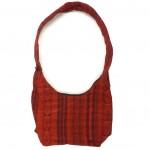 embroidered hobo bag red back