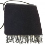 embroidered mini fringe purse back