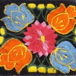 embroidered mini fringe purse detail