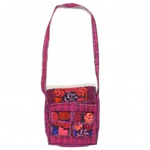 embroidered morral messenger bag
