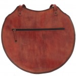 red leather carry-all back