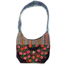 velvet embroidered bolsa
