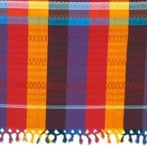 vibrant tablecloth embroidered