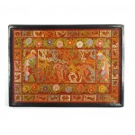 olinala serving tray orange