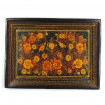 olinala serving tray orange forest