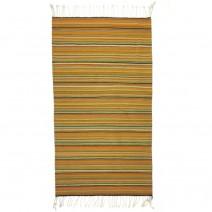 striped natural dye throw rug