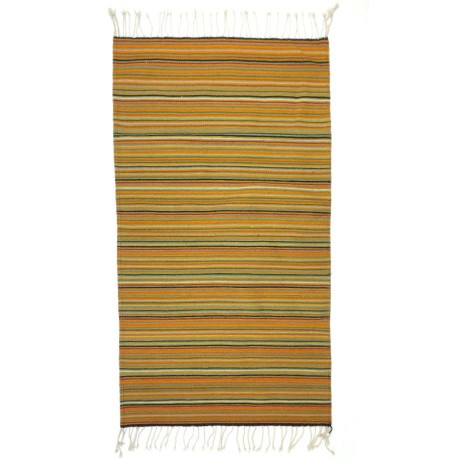 striped natural dye throw rug