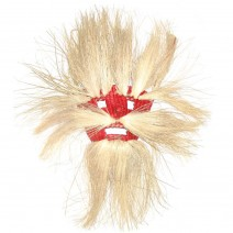 woven ceremonial mask red